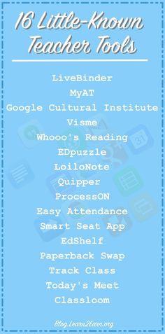16 Little-Known Teacher Tools   iGeneration - 2...