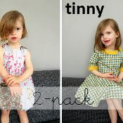 2 pack: Bubble dress + Tinny patterns - via @Craftsy