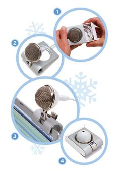 Blue Snowflake Microphones USB » Cool Gadget Gifts for Her