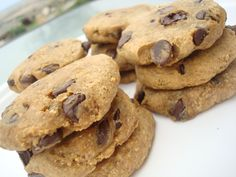 4 ingredient chocolate chip cookie recipe - Low Fat Graham Crackers, Sugar Free Vanilla Syrup, Soy Milk and Dark Chocolate Chips!