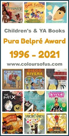 Browse our list of Latinx children's and young adult books that have won the prestigious Pura Belpré Author/Illustrator Award since 1996! Ya Books, Good Books, Books To Read, Best Books List, Book Lists, Multicultural Classroom, Hispanic Heritage Month, Happy Reading, Award Winner