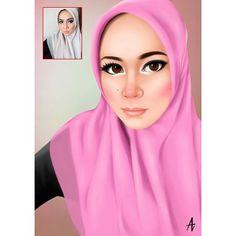 Done kak @haleematuzza  #illustration #arts #digitalpainting #hijab #potrait