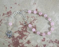 Aphrodite Prayer Bead Bracelet in Rose Quartz: Greek Goddess of Love and Beauty
