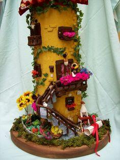 Little House with gardenI Love Art team by ArtistaToscana on Etsy, $530.00