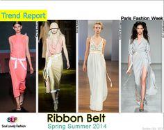 Ribbon Belt Fashion Trend for Spring Summer 2014  #ribbon #belt  #fashion #spring2014 #trends