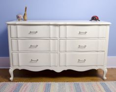 34 Ideas Bedroom Furniture White Closet For 2019 Refinished Bedroom Furniture, Repainting Furniture, White Bedroom Furniture, Bedroom Dressers, Bedroom Sets, Closet Bedroom, Bedrooms, Dresser Hardware, Dresser Drawer Handles