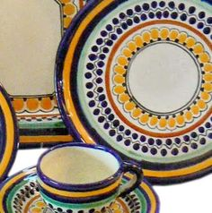 Talavera Dinnerware | Talavera Place Settings by Tomas Huerta | Pinterest | Dinnerware Mexican furniture and Rustic furniture & Talavera Dinnerware | Talavera Place Settings by Tomas Huerta ...