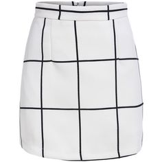 With Zipper Plaid Skirt (280 UAH) ❤ liked on Polyvore featuring skirts, mini skirts, bottoms, saia, jupes, white, short mini skirts, plaid mini skirt, zipper skirt and short skirts