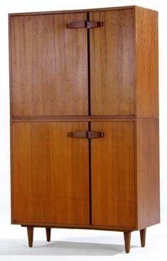 Bertha Schaeffer; Walnut Cabinet for Singer & Sons, 1952.