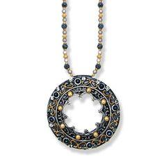 Metallika Open Circle Necklace by MICHAL GOLAN