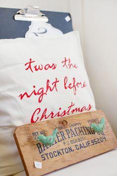 Christmas Pillow - Bird Hooks