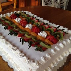 Fruit Decorations on Cake