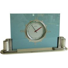Art Deco Collection - Jaeger-LeCoultre - LeCoultre Streamline Art Deco 1930's Moderne 8 day clock - 1stdibs