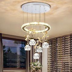 Zen Misty - Modern Pendant LED  Price: 9320.00 & FREE Shipping  #homedecor Crystal Chandelier Lighting, Safe Shop, My Home Design, Downlights, Zen, Bulb, Ceiling Lights, Free Shipping, Pendant