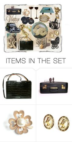 """""""Vintage Style"""" by riagr ❤ liked on Polyvore featuring art and vintage"""