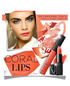 """""""Coral Lips*Notice It*"""" by eilselrenrag ❤ liked on Polyvore"""