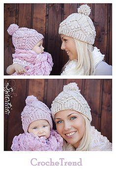 Ravelry: Family Cable Hat Crochet Pattern pattern by Viktoria Gogolak