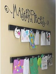 Art display for the littles' craft center