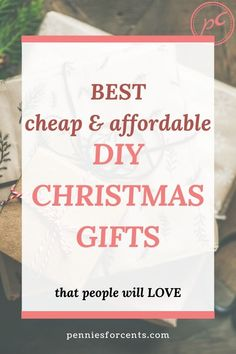 Simple DIY Christmas gift ideas that you will love to give and people will love to get. Homemade gift ideas that even you will want to have. Last Minute Christmas Gifts Diy, Christmas On A Budget, Diy Holiday Gifts, Homemade Christmas Gifts, Perfect Christmas Gifts, Last Minute Gifts, Homemade Gifts, Diy Gifts, Christmas Diy