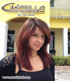 Are you bored of the same standard haircut? Fortunately for you our master stylists ,aren't just stylists they are hair artists! Discover a new you its amazing what a different haircut will do. Pictured below is one of our very own stylists with a new look of her own. This fun and funky precision cut was done by Antonella and the balayage ombre done by Samantha Bassin. Our model is stylist Jasmine Hernandez. So book an appt and find a new and improved you!