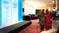 Lovely ladies at the DELL booth during eWomenNetwork Conference!