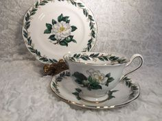 Royal Albert England Lady Clare Trio A Wagg Signed