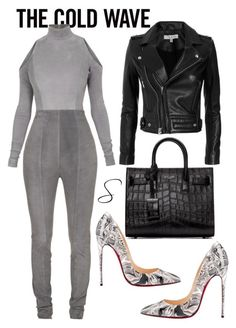 """""""Untitled #375"""" by styledbystephxx on Polyvore featuring Balmain, IRO, Yves Saint Laurent and Christian Louboutin"""