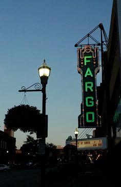 The Fargo Theatre neon sign. Downtown Fargo, North Dakota Zippertravel.com Digital Edition