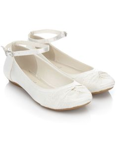 Lace Twist Ballerina   Ivory   Monsoon