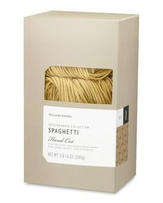 Williams-Sonoma Artisan Spaghetti Pasta $12.95 williams-sonoma.com