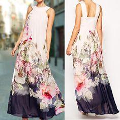 Women's Turtleneck Dress , Cotton Maxi Sleeveless – USD $ 14.99