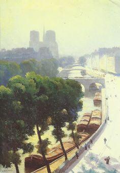 Gustave Caillebotte, View of Paris, Sunshine, 1880 on ArtStack #gustave-caillebotte #art