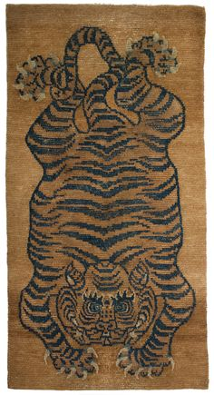 Antique Tibetan Tiger Rugs Antique Tibetan Tiger Rug
