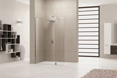 Bij de profielarme douchewanden uit de serie Giada speelt het glas de hoofdrol.
