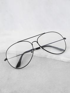 SheIn offers Transluscent Aviator Glasses BLACK & more to fit your fashionable needs. Glasses Frames Trendy, Fake Glasses, Glasses For Men, Cute Sunglasses, Sunglasses Women, Glasses Trends, Fashion Eye Glasses, Aviator Glasses, Black Women Fashion