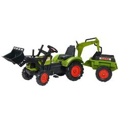 Falk Claas tractor set deluxe  Voel je als een echte boer als je rondrijd op deze mooie Claas traptractor van Falk! Deze tractor is voorzien van een shovel aan de voorkant en een aanhanger om al je speelgoed in mee te nemen.  EUR 149.99  Meer informatie