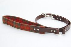 Harris Tweed and leather dog lead/ dog leash strong by MANNandMOON, £65.00