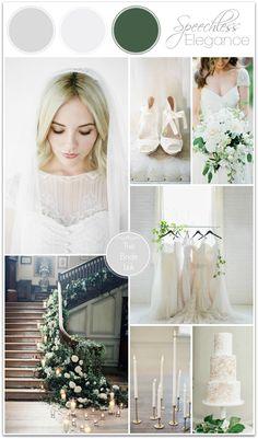 White and Green Wedding Ideas.