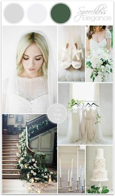 White and Green Wedding Ideas.