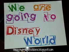 Disney World Scavenger Hunt Surprise. How we surprised our kids with our Disney trip! http://mamagetsitdone.blogspot.com/2014/05/were-going-to-disney-world-surprise.html
