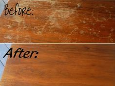 I just did this to spots on my floor and am literally AMAZED at hoe great this worked! If you have scratched wood read this! How to cure scratched wood // 10 amazing cleaning tricks Diy Cleaning Products, Cleaning Solutions, Cleaning Hacks, Deep Cleaning, Cleaning Wood, Cleaning Supplies, Spring Cleaning, Scratched Wood, Wood Scratches