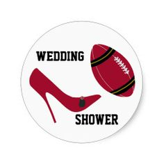 Red and Black Football Themed Envelope Seal Sticker