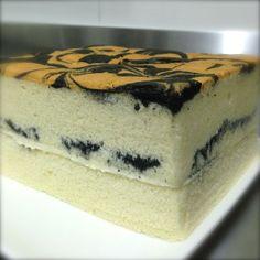 Vanilla Ogura Sponge Cake with Cream Cheese Filling Cream Cheese Filling, Cake With Cream Cheese, Ogura Cake, Sponge Cake Roll, Cotton Cake, Chiffon Cake, Brownie Cake, Home Baking, Cake Flour