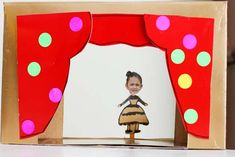 Mini pencil puppets with cereal box theater via PBS Parents. People Puppets, Puppets For Kids, Preschool Crafts, Fun Crafts, Arts And Crafts, Craft Projects For Kids, Projects To Try, Toy Theatre, Theatre Games
