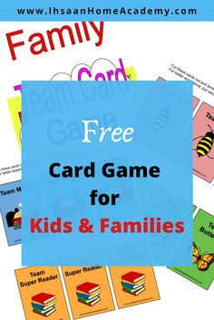 Free Card Game for Kids and Families ~ Ihsaan Home Academy games for family Best Family Board Games, Fun Board Games, Family Games, Family Kids, Free Card Games, Card Games For Kids, Games For Toddlers, Outdoor Games To Play, Indoor Activities For Kids