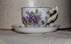 Hammersley Victorian Violets Bone China Cup and by HazelMaes, $28.00