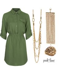 Lucky by parklanejewelry on Polyvore featuring Topshop, Park Lane, GREEN, st, goldjewelry and parklanejewelry