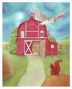 flying owl by Marsela Hajdinjak Beautiful Owl, Owl Art, Farm Animals, Painted Owls, Graphic Design, Artist, Painting, Illustrations, Artists