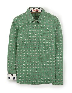 Printed shirt wl838 shirts blouses at boden dachshunds for Johnnie boden de