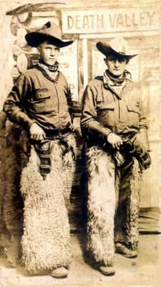 Vintage Cowboys in their wooly chaps